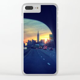 Taxi on the BQE Clear iPhone Case