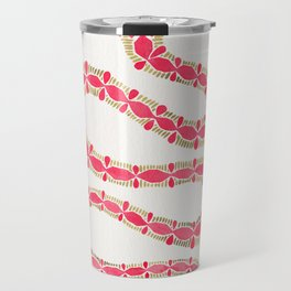 Pink & Gold Serpent Travel Mug