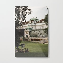 Burggarten park in Vienna, Austria Metal Print