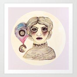 Cassandra three: mad. Art Print