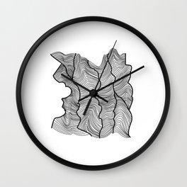 Contour Lines Wall Clock