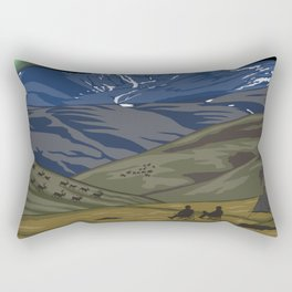 Vintage Poster - Steese National Conservation Area, Alaska (2015) Rectangular Pillow