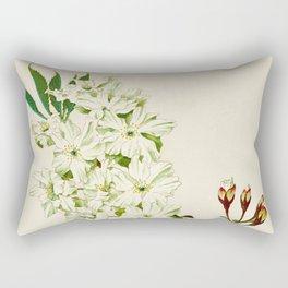 Gyoi-ko or Robe Yellow Cherry Blossoms Rectangular Pillow