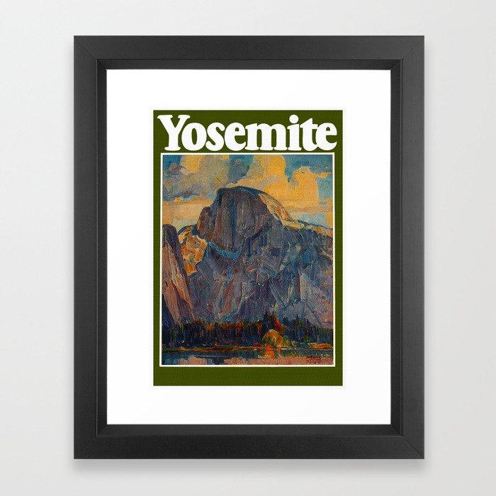 Vintage Yosemite National Park Framed Art Print
