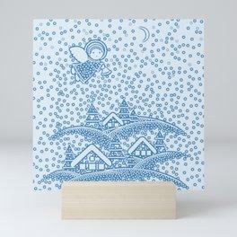 SNOW ANGEL Mini Art Print