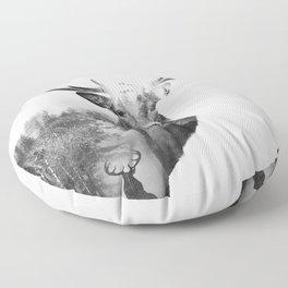 Deer in the woods Floor Pillow