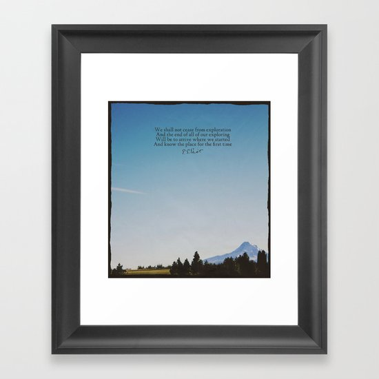 T.S. Eliot: Exploration Framed Art Print