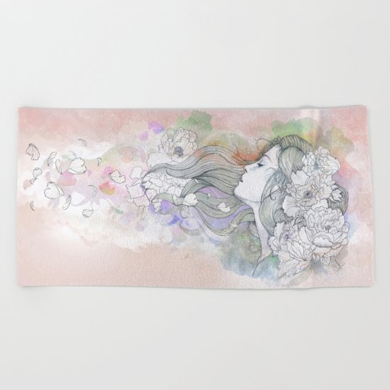 Le Vent II Beach Towel