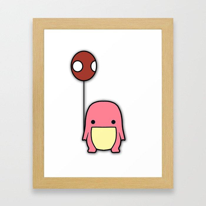 Balloon Quaggan Pink Case Framed Art Print