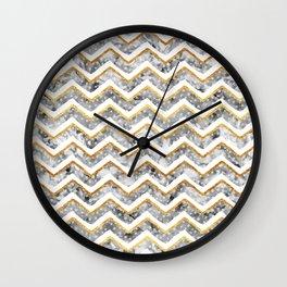 2017 NEW Gold Chevron Wall Clock