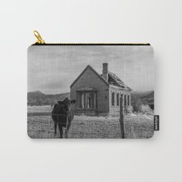 Hello Cow in Black and White Carry-All Pouch