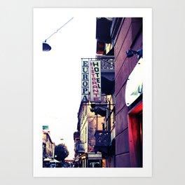 Hotel Europa Art Print