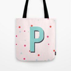 P is for Peaceful Tote Bag