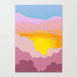 Sixties Inspired Psychedelic Sunrise Surprise Canvas Print