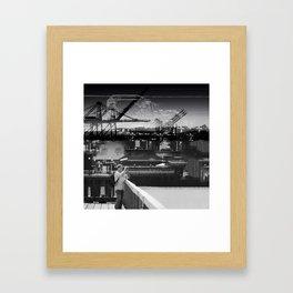 Focused Distraction Framed Art Print