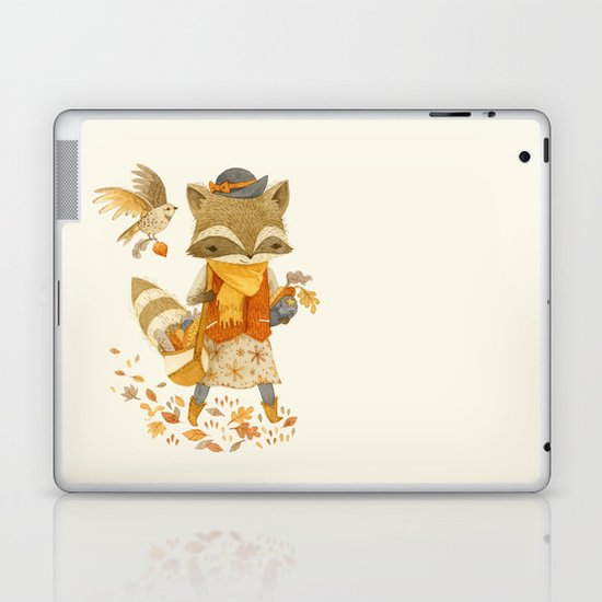 Rebecca the Radish Raccoon Laptop & iPad Skin