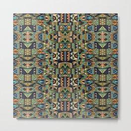 Tribal pattern mosaic 01 Metal Print