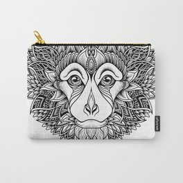 MONKEY head. psychedelic / zentangle style Carry-All Pouch