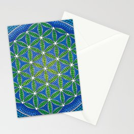 Flower of Life- Ocean Colours Stationery Cards