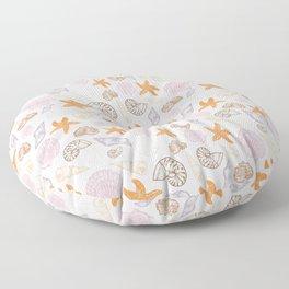 Seashell Print Floor Pillow