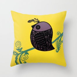 Chirp Throw Pillow