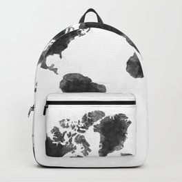 World Map Black Sketch, Map Of The World, Wall Art Poster, Wall Decal, Earth Atlas, Geography Map Backpack