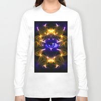 all seeing eye Long Sleeve T-shirts featuring All seeing eye by Cozmic Photos
