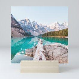 Canada Photography - Tree Laying Over The Lake Mini Art Print