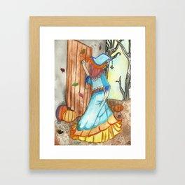 Knocking Witch Framed Art Print