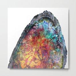 Geode Luster Metal Print