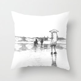 """Death of a Free Elf"" - Dobby in Deathly Hallows Throw Pillow"