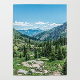 Colorado Wilderness // Why live anywhere else? Amazing Peaceful Scenery with Evergreen Dusted Hills Poster