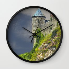 Small Tower of Mont St. Michel Wall Clock
