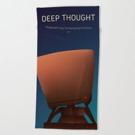 Deep Thought Beach Towel