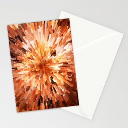 Orange Burst Stationery Cards