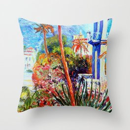 South of France     by Kay Lipton Throw Pillow