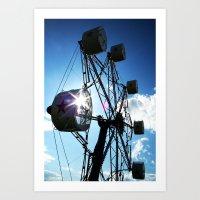 ferris wheel Art Prints featuring Ferris Wheel by MSG Imaging