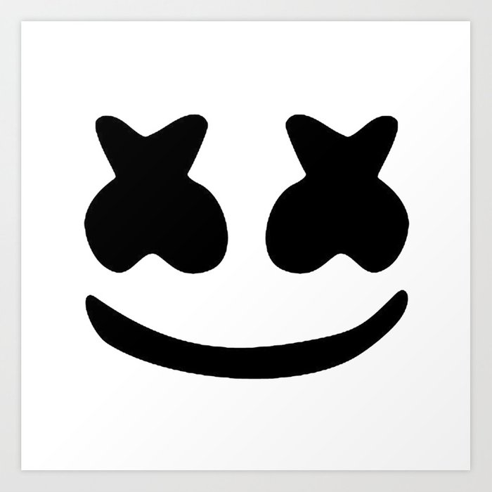 Marshmello Face Art Print By Beatdrop