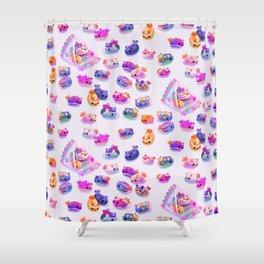 Jelly bean sea slug Shower Curtain
