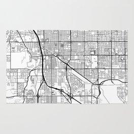 Tucson Map White Rug