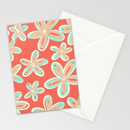 Tropical Flower Power Stationery Cards
