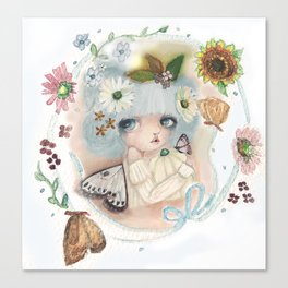 Pumpkin Blue Pixie Canvas Print