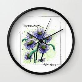 Alpine Aster Wall Clock
