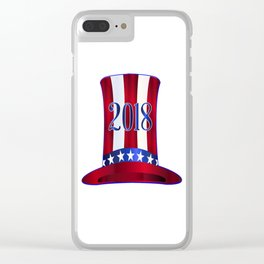 Uncle Sam's 2018 Tall Hat Clear iPhone Case