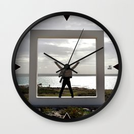 Human and Nature frame Wall Clock