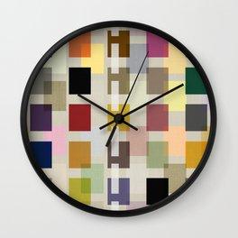 MID-CENTURY COLOR BLOCK LINEN Wall Clock