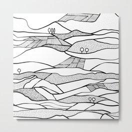 Monegros - Black & White Landscape Metal Print