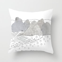 Into The Forest - John Muir quote Throw Pillow