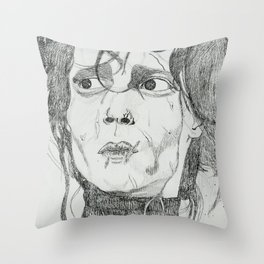 EDWARD SCISSOR HANDS Throw Pillow