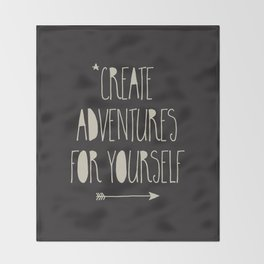 Create Adventures Throw Blanket